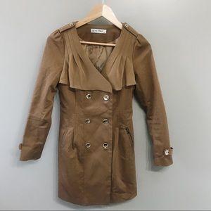 Yedina Tan & Gold Trench Coat